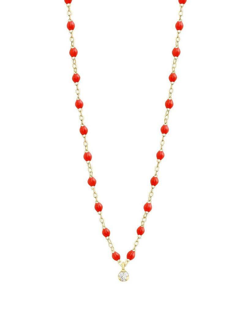 "Gigi Clozeau Classic Gigi Supreme 16"" 1 diamond Coral"