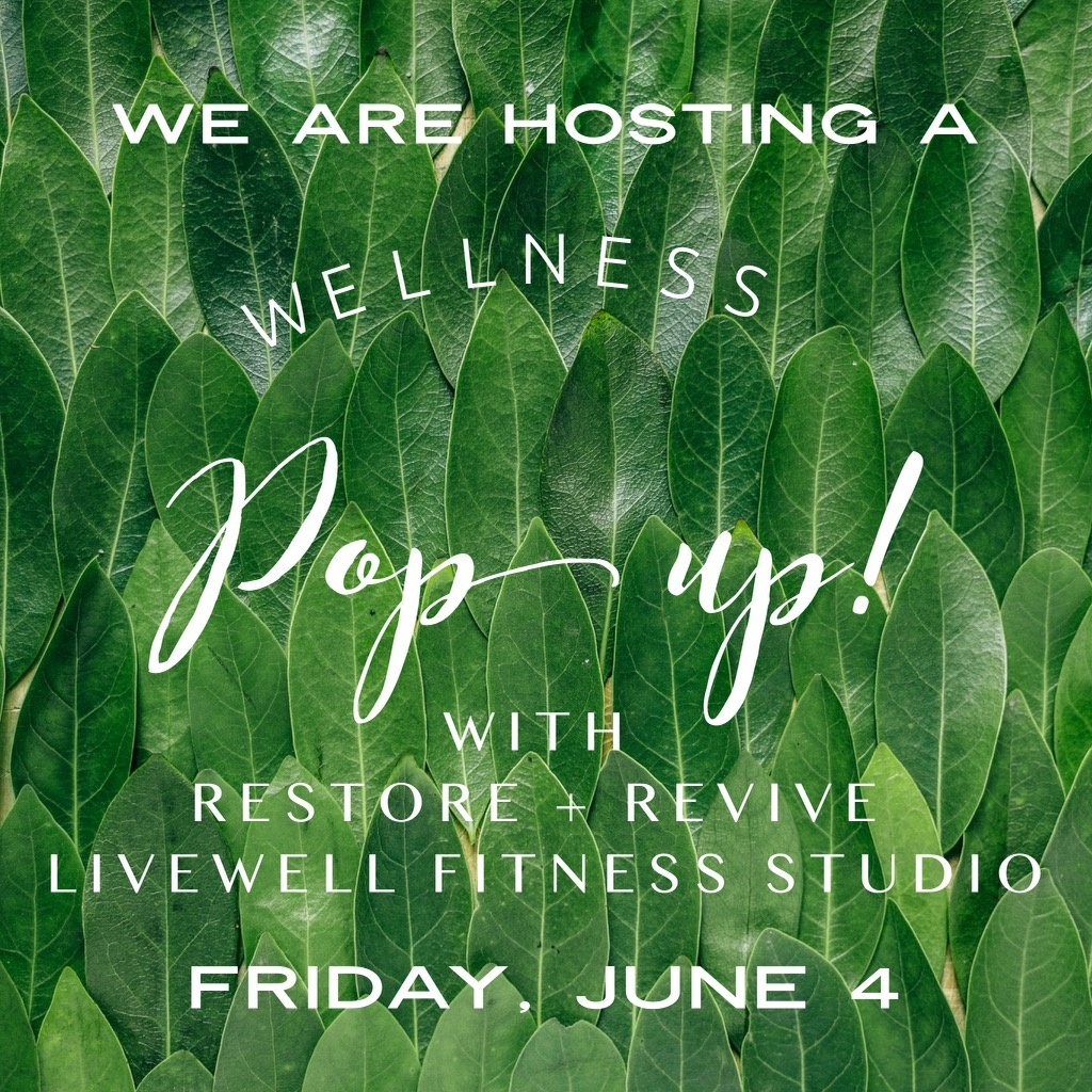 This Friday - A Wellness Pop Up!