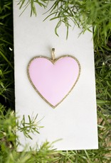 The Woods Fine Jewelry Big Heart Pendant- Baby Pink