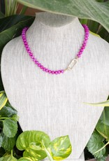 The Woods Fine Jewelry Hot Pink Beaded Necklace- Short