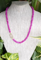 The Woods Fine Jewelry Hot Pink Beaded Necklace- Long