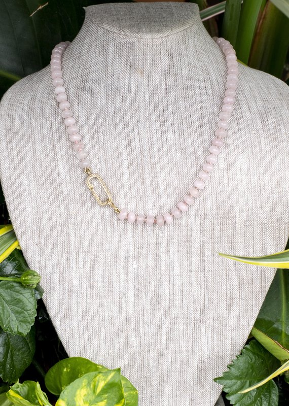 The Woods Fine Jewelry Light Pink Beaded Necklace