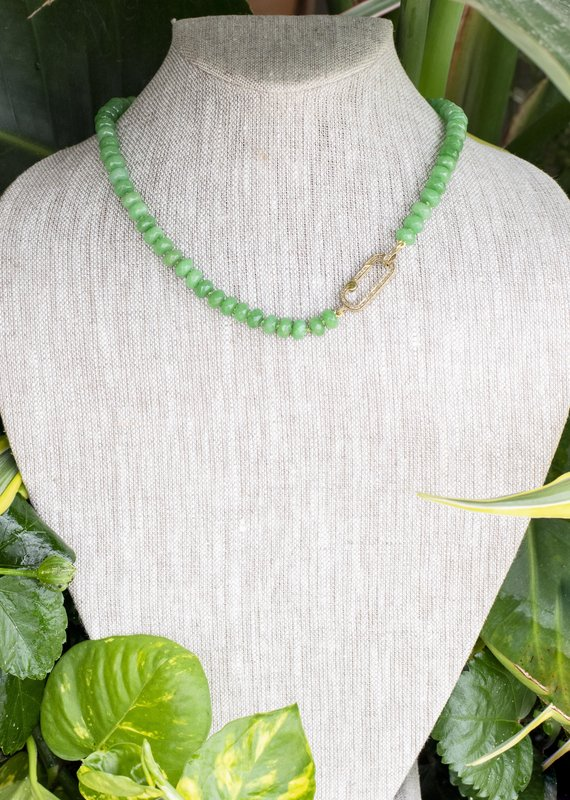 The Woods Fine Jewelry Green Beaded Necklace- Short