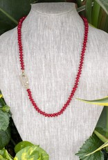 The Woods Fine Jewelry Red Beaded Necklace- Long