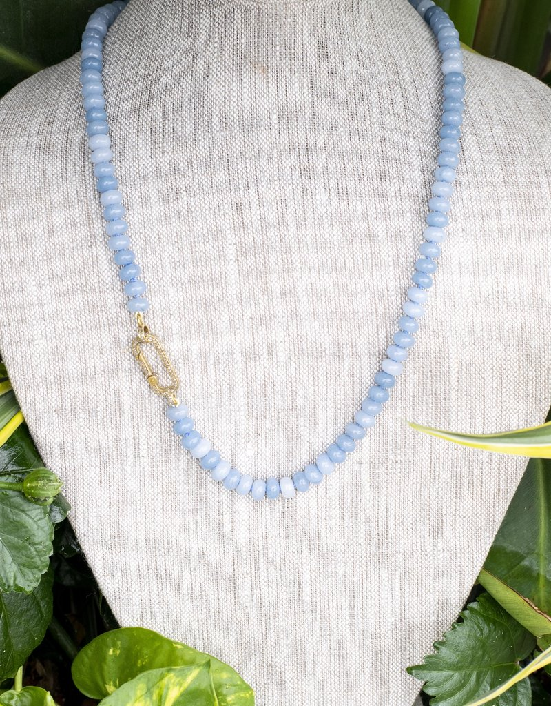 The Woods Fine Jewelry Blue Beaded Necklace- Long