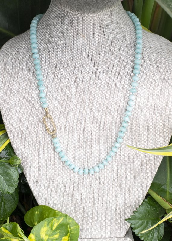 The Woods Fine Jewelry Light Blue Beaded Necklace- Long