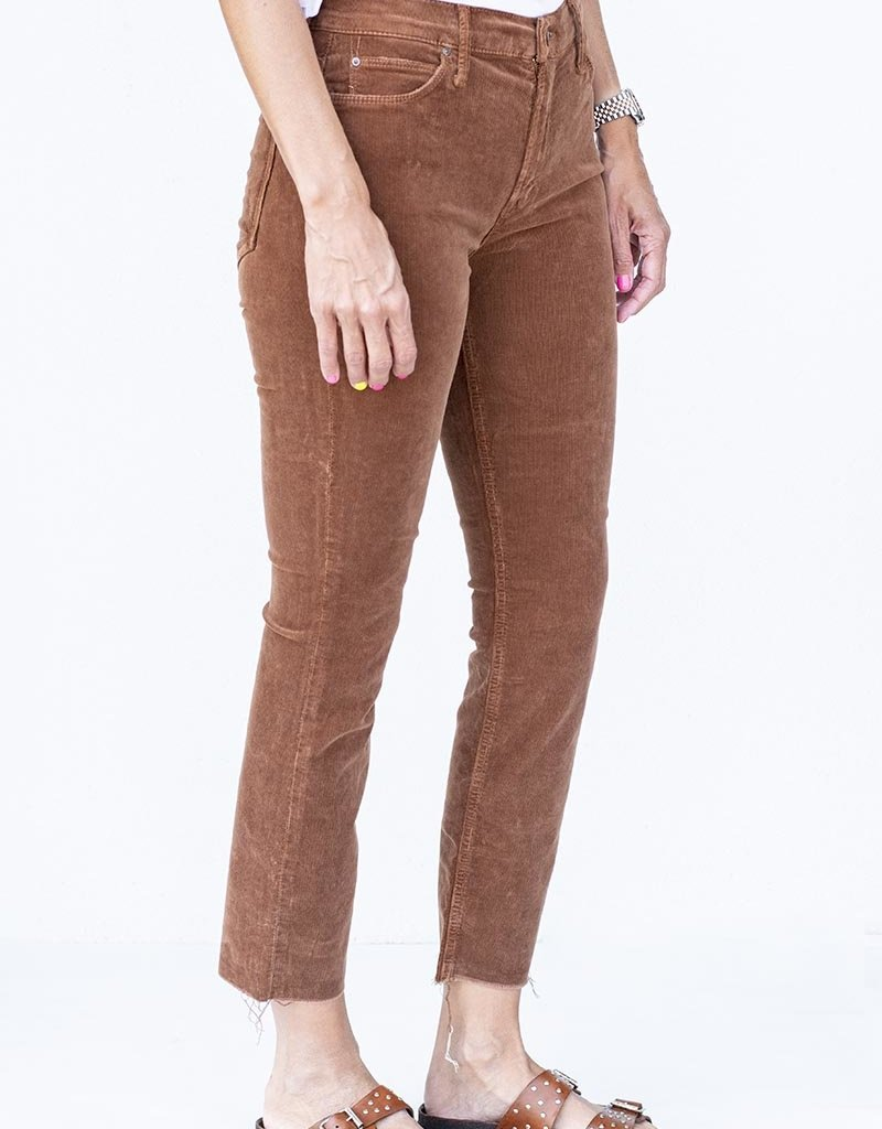 Mother Mid Rise Dazzler Ankle Fray-MOK