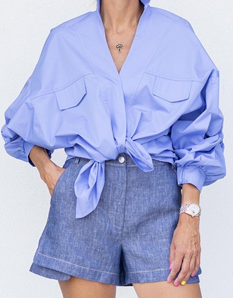 Alexis Carrington Top-Azul