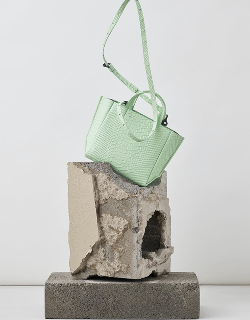 Ampersand As Apostrophe Micro Tote-Mint Python