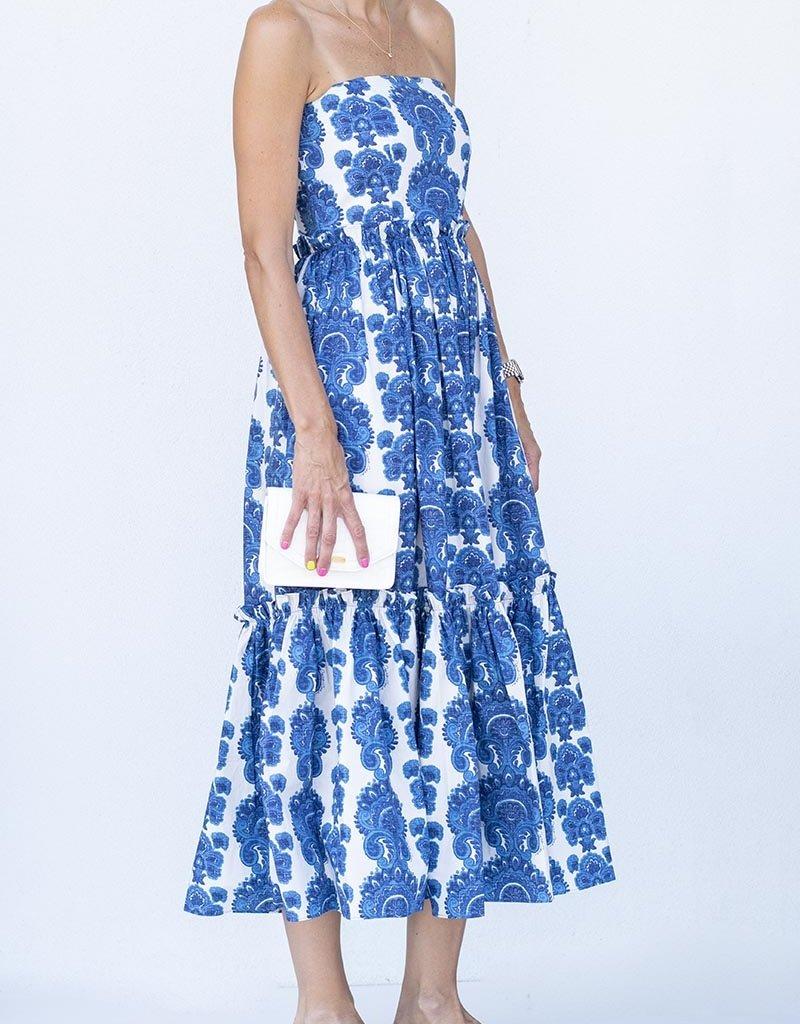 Cara Cara Torres Dress-Paisley Stripe