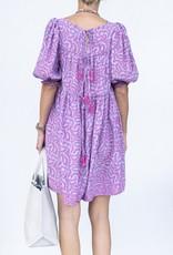 Natalie Martin Haley Short Dress-Fern Print