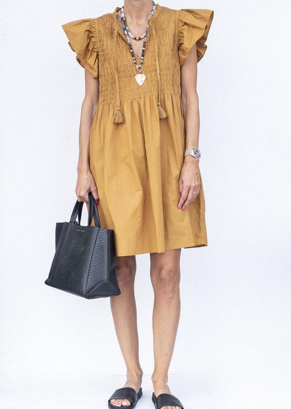 Sea NYC Rene Smocked Dress-Bronze