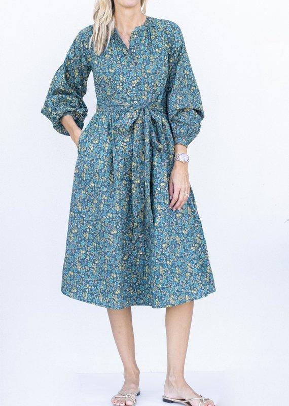Banjanan Olympia Dress-Dark Denim