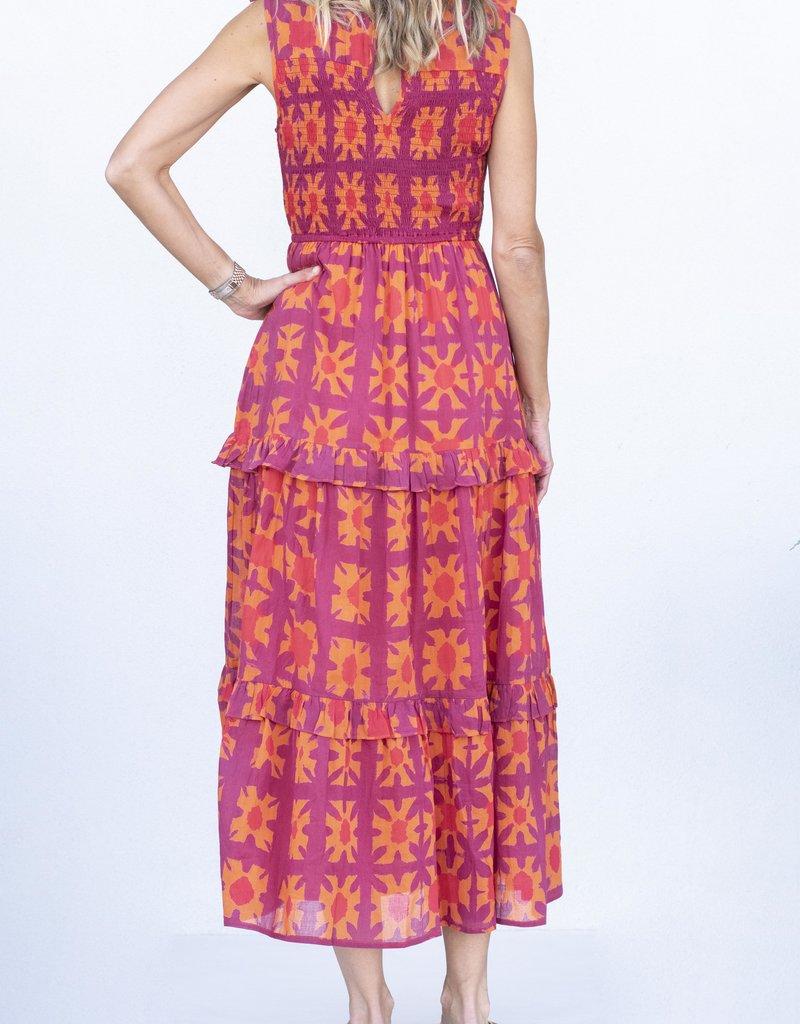 Banjanan Iris Dress-Jaffa Orange