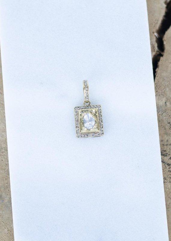 The Woods Fine Jewelry Brass Charm with Pave Diamonds