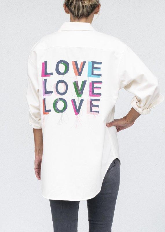 Kerri Rosenthal Love On Repeat BF Flannel