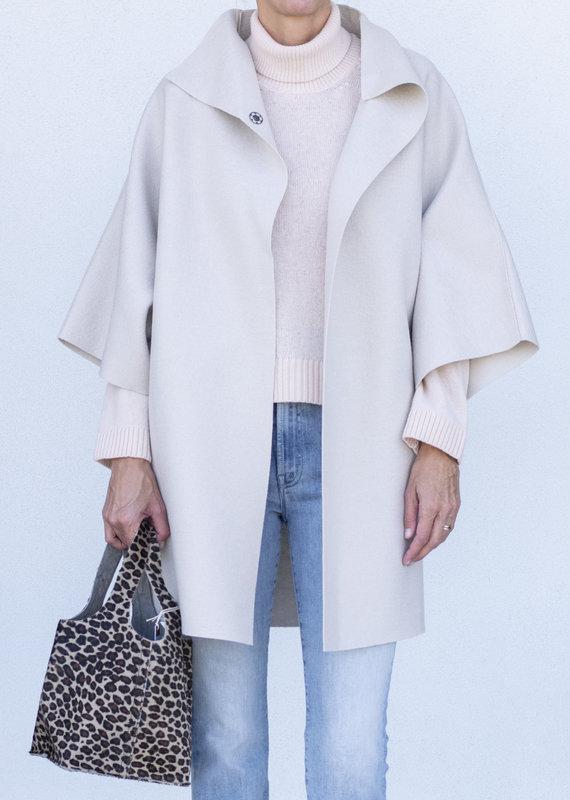 Harris Wharf Kimono Coat-Cream