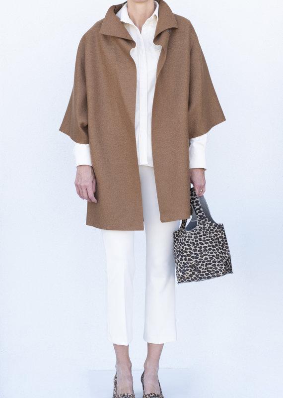 Harris Wharf Kimono Coat-Caramel