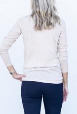 Ann Mashburn Funnel Neck Sweater-Heather Wheat
