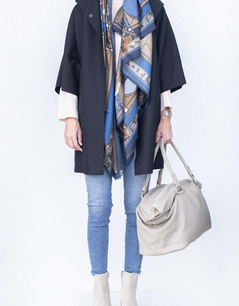 Harris Wharf Kimono Coat-Black