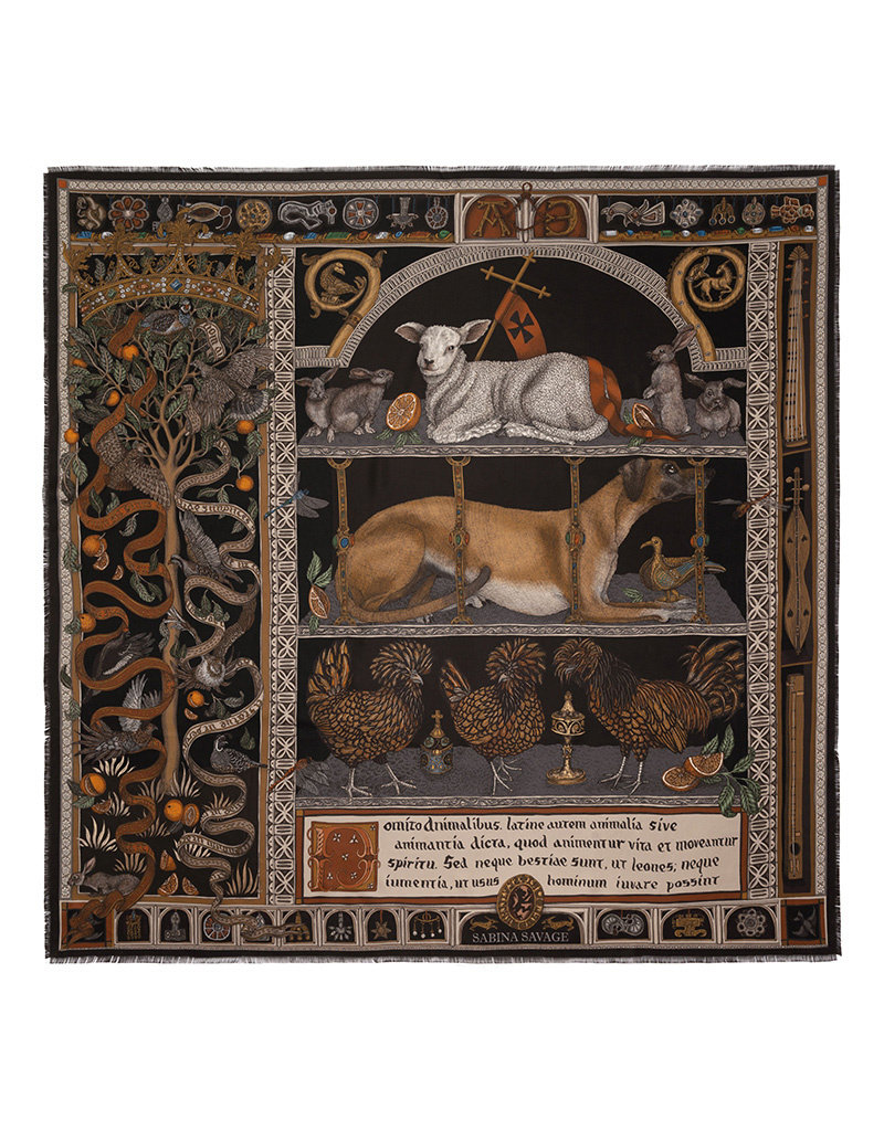 Sabina Savage 135x135 Large Silk Faithful Lamb