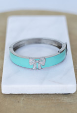 The Woods Fine Jewelry Bow Bangle- Turquoise