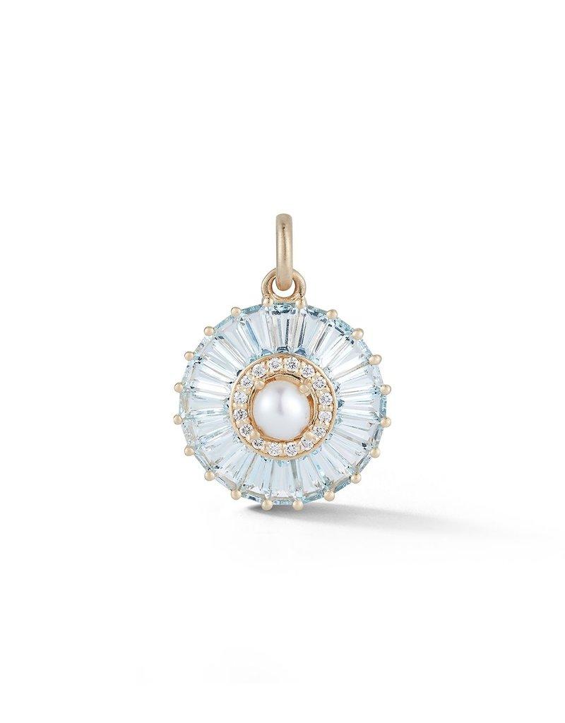 Storrow Circle Charm- Aquamarine
