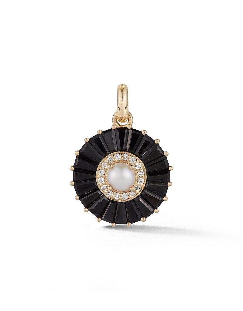 Storrow Circle Charm- Black Onyx