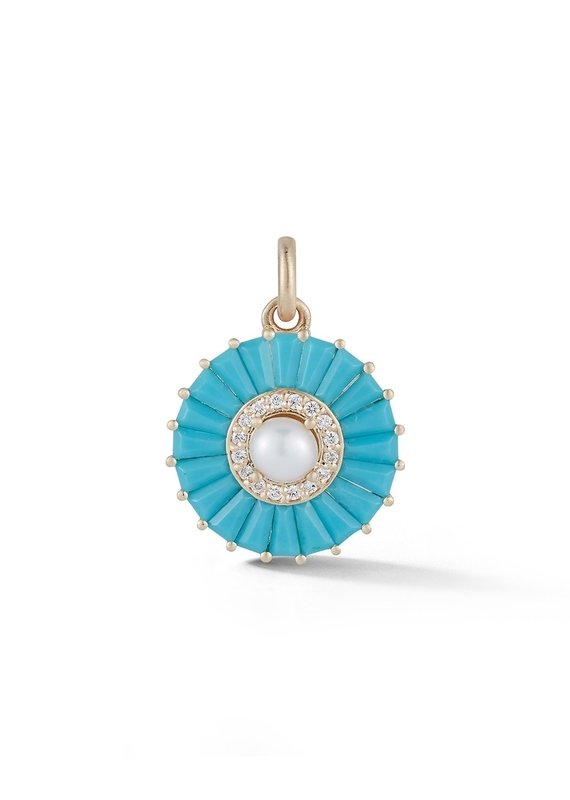 Storrow Circle Charm- Turquoise