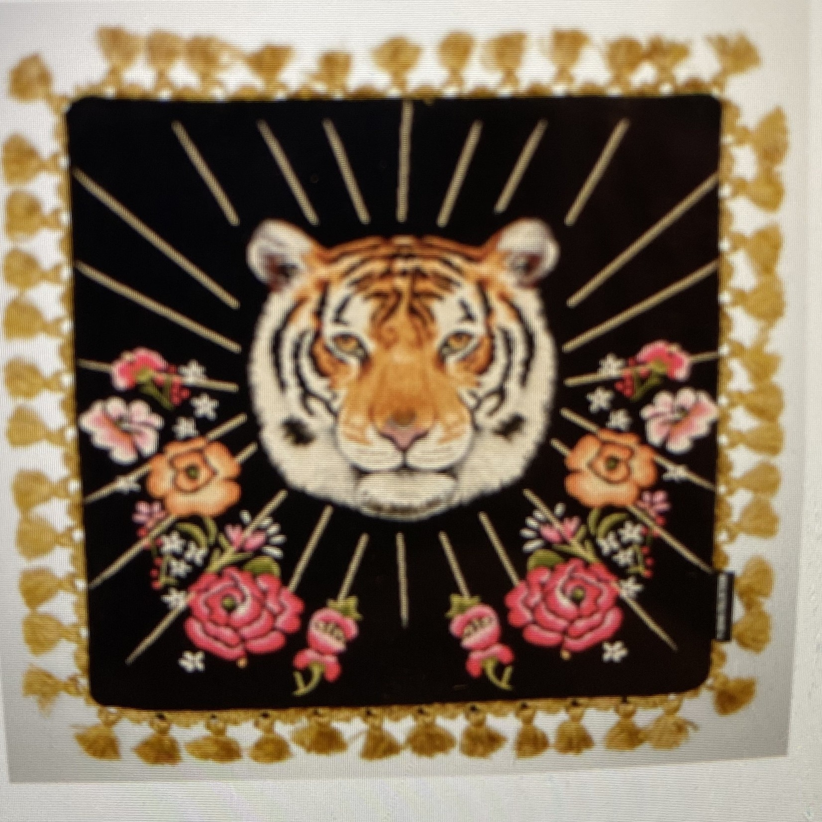 FS Homes collection Feline Flowers  - Fringe