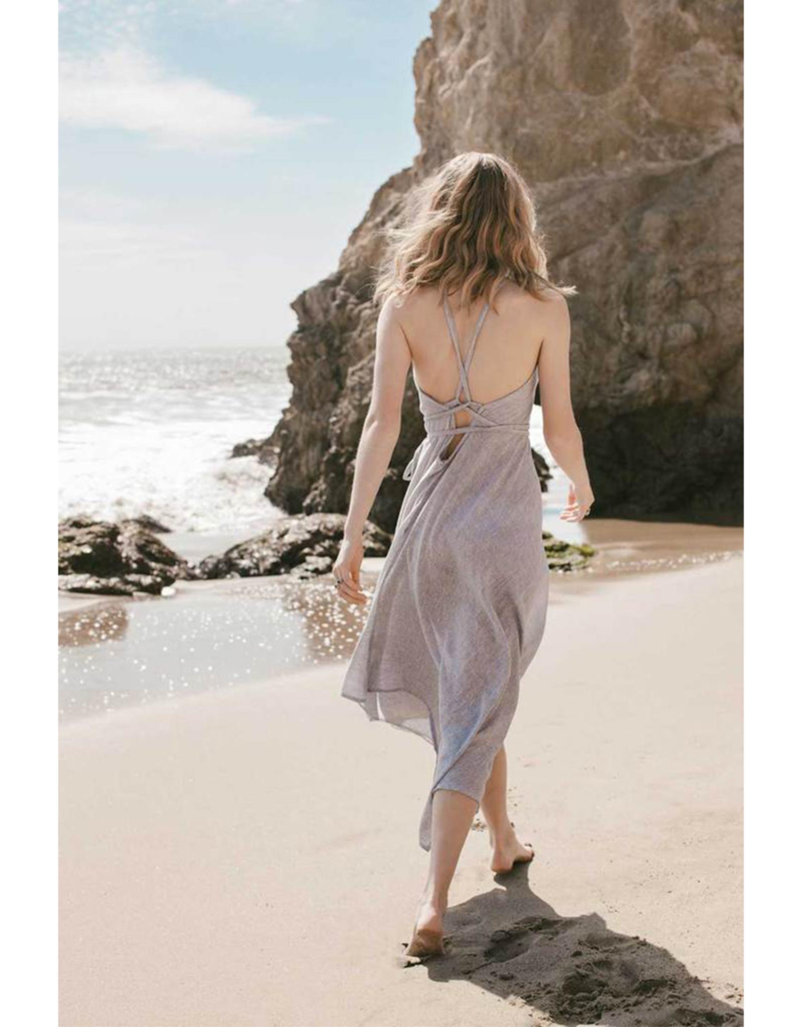 Handloom Sage Maxi Dress