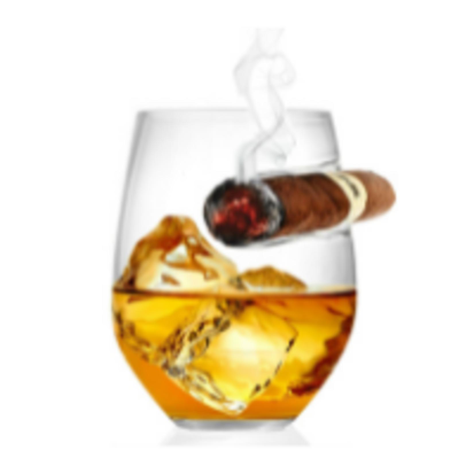 Bezrat Whiskey Glass w/ side mounted holder (set of 2)