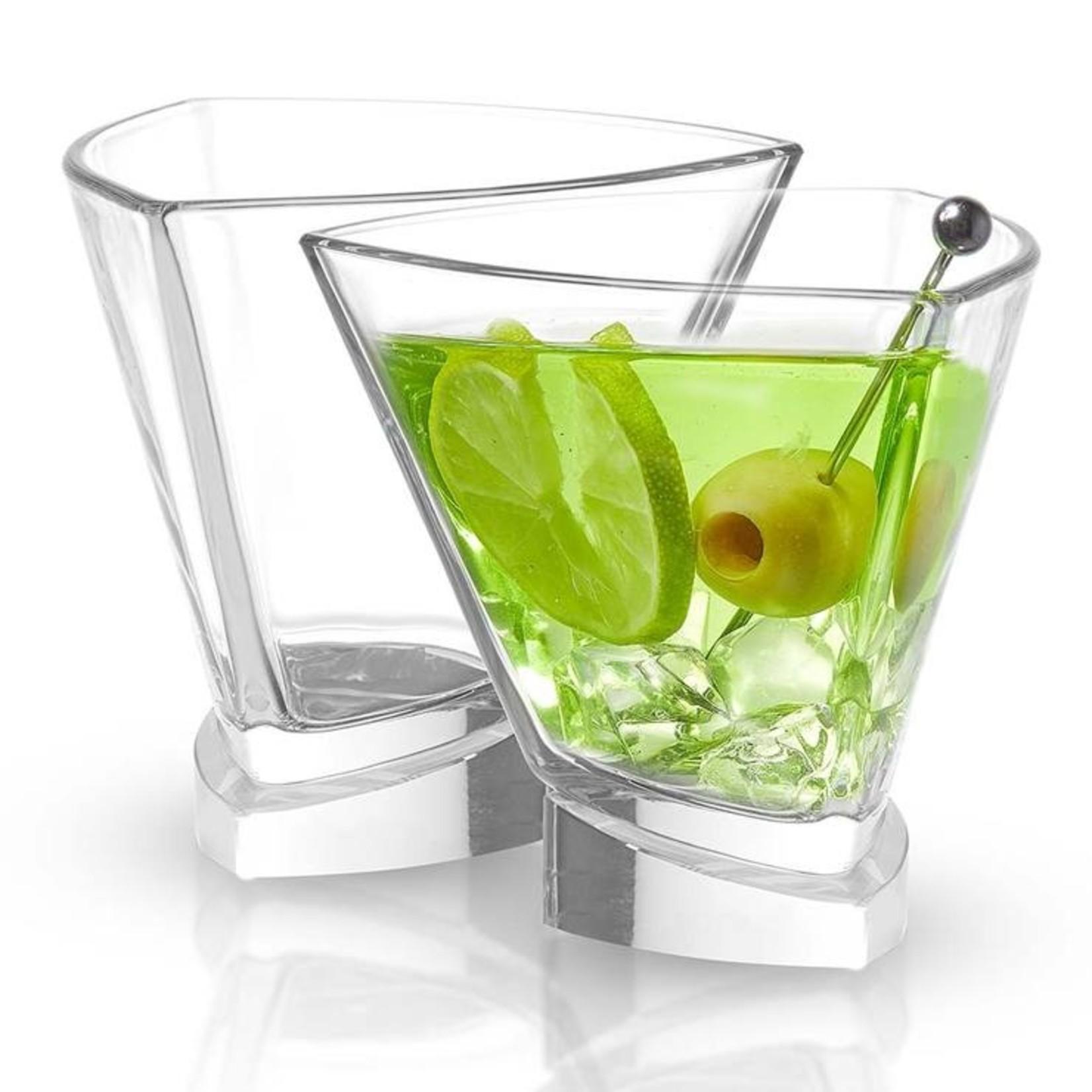 Joy Jolt AV Triangle Martini Glasses - set of 2