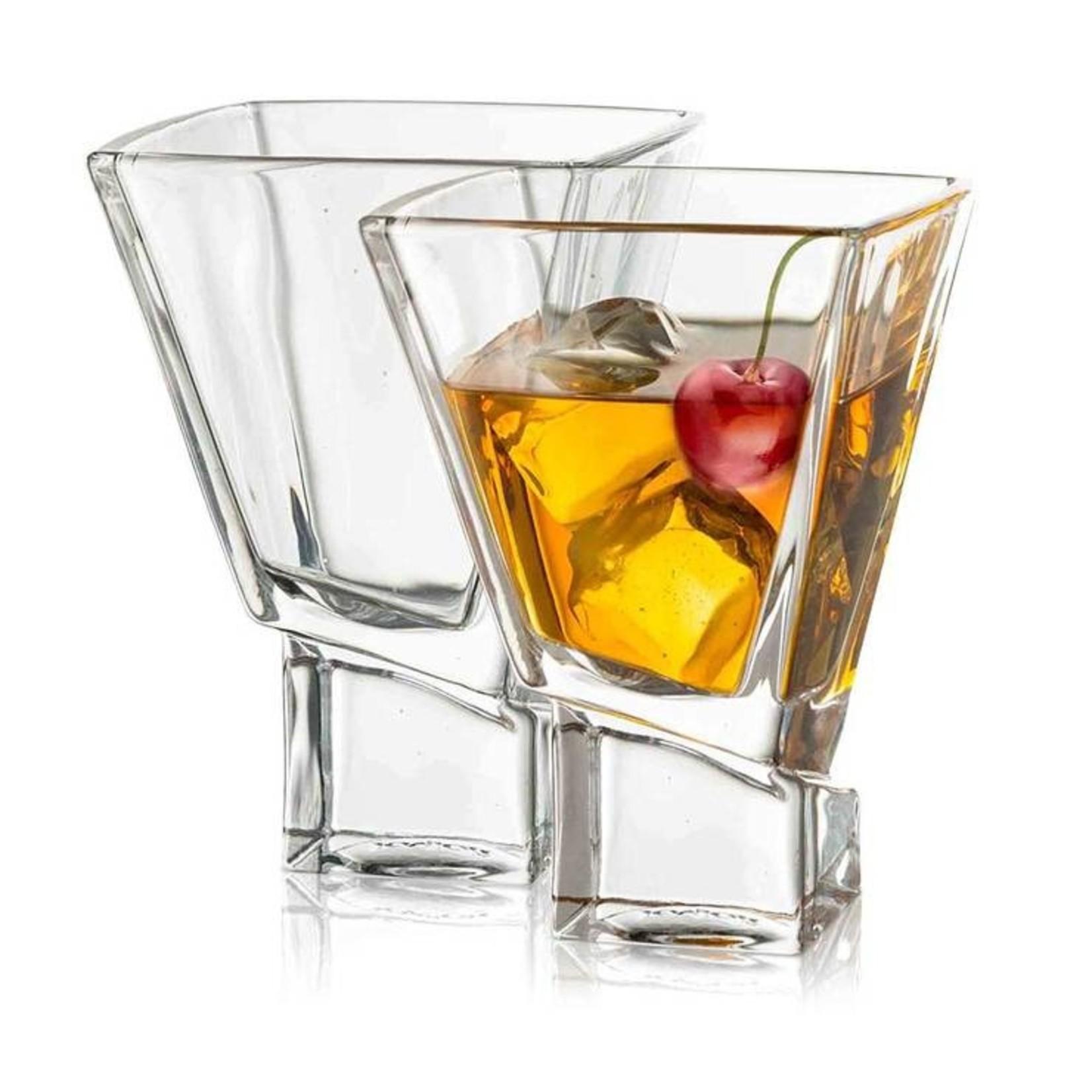 Joy Jolt Carre Martini Cocktail Glasses - set of 2