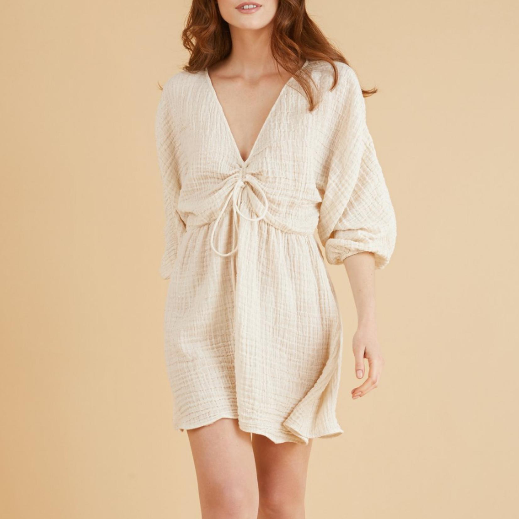 Handloom Gaia Drawstring Mini Dress