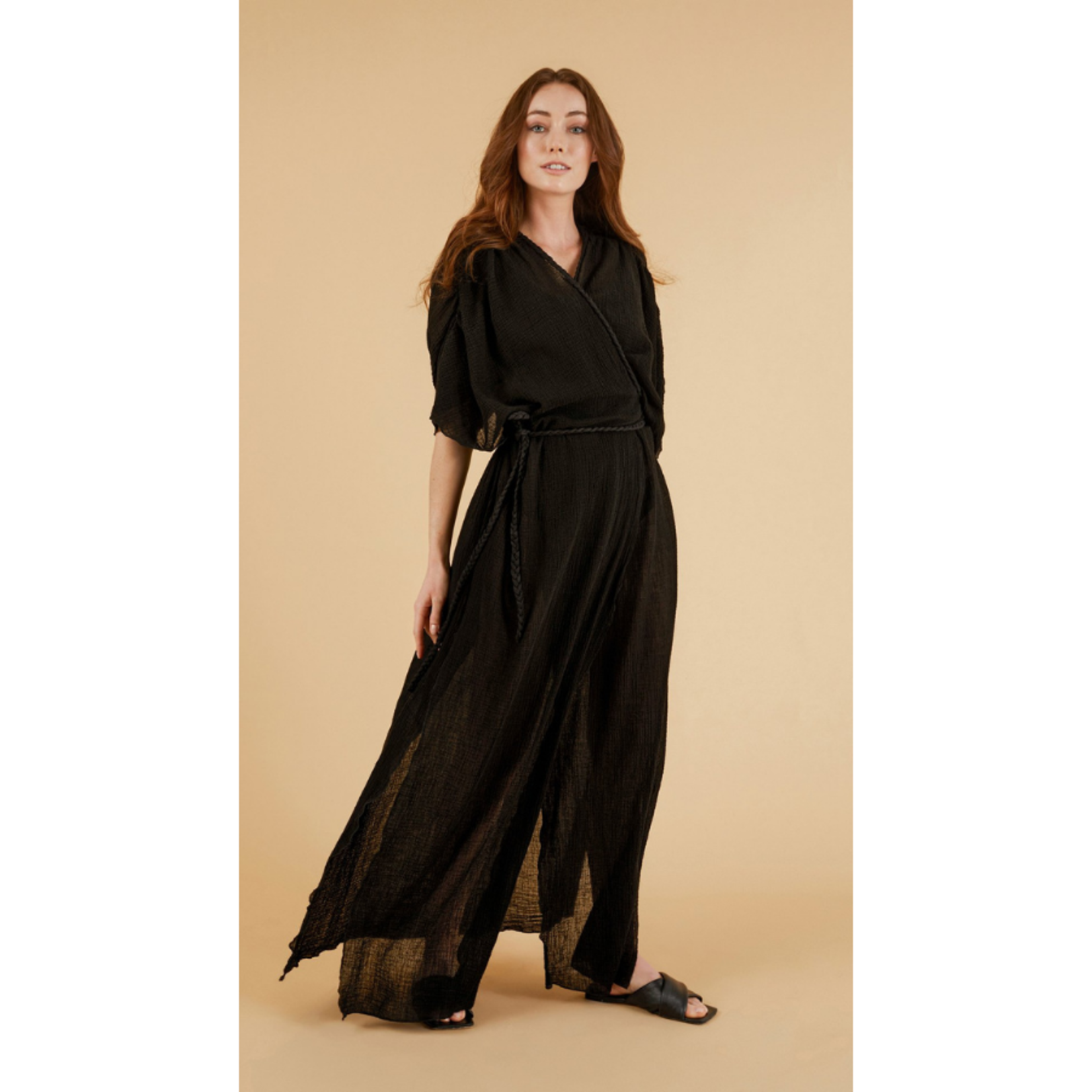 Handloom Juniper Kimono