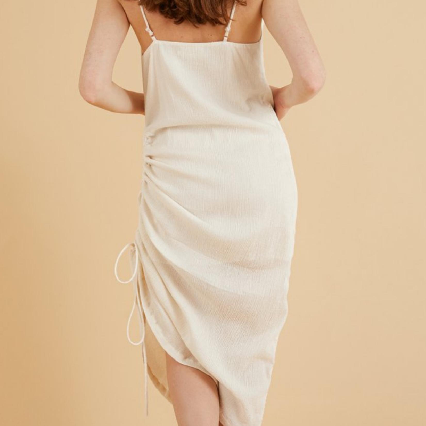 Handloom Moon Drawstring Dress