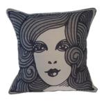 Spitfire Girl Art Deco Lady Cushion