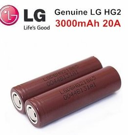 LG 18650 Battery - LG HG2 (BROWN) 3000 mAh