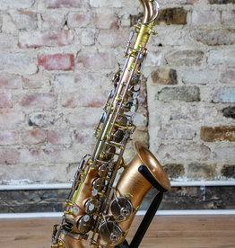 New York Signature Series Unlacquered Copper Alto Saxophone W/ Brushed Nickel Keywork
