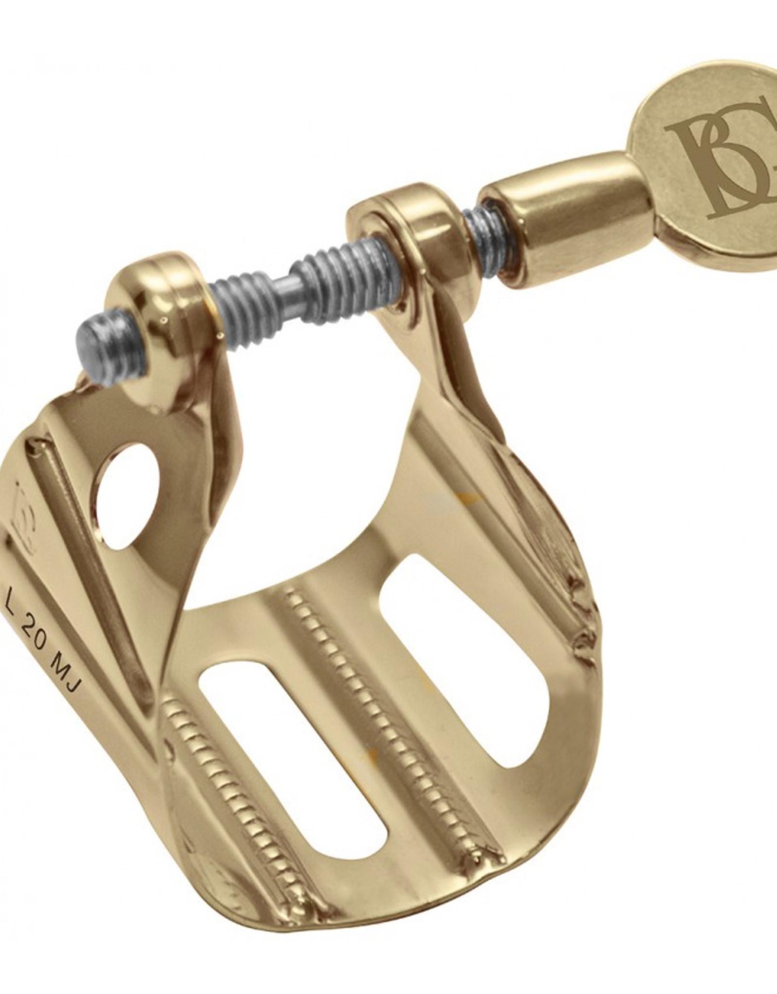 BG France BG Gold Lacquered Metal Jazz Saxophone Ligature Tenor L20 MJ