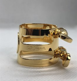 Ishimori Wood Stone Alto Saxophone Metal Ligature for Selmer Rubber Mouthpiece Gold Plated