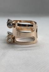 Ishimori Wood Stone Soprano Saxophone Metal Ligature Prototype Design for Selmer Rubber Mouthpiece Solid Silver