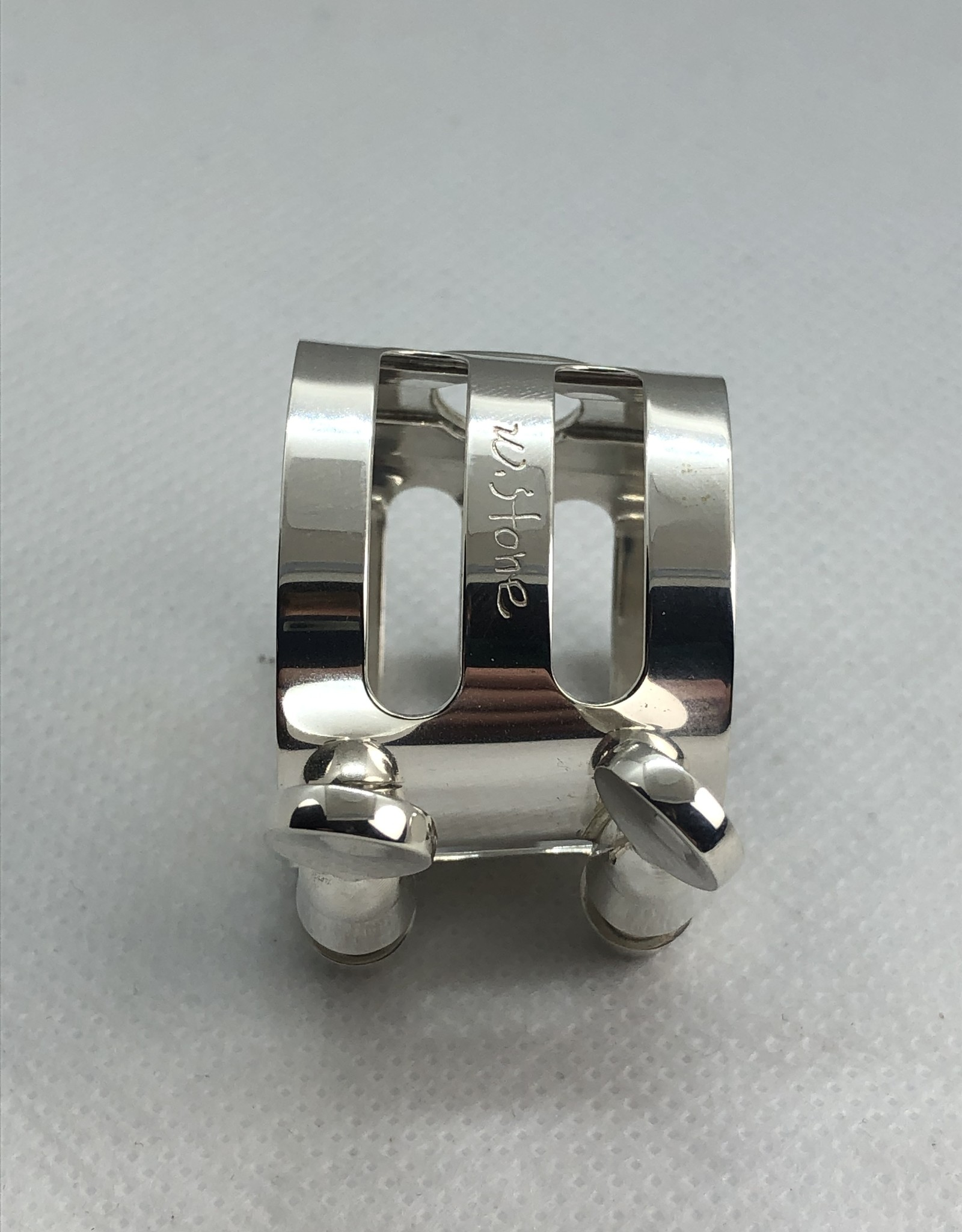 Ishimori Wood Stone Alto Saxophone Metal Ligature for Meyer Rubber Mouthpiece Solid Silver