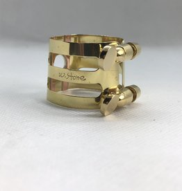 Ishimori Wood Stone Tenor Saxophone Metal Ligature for Selmer Rubber Mouthpiece Brass