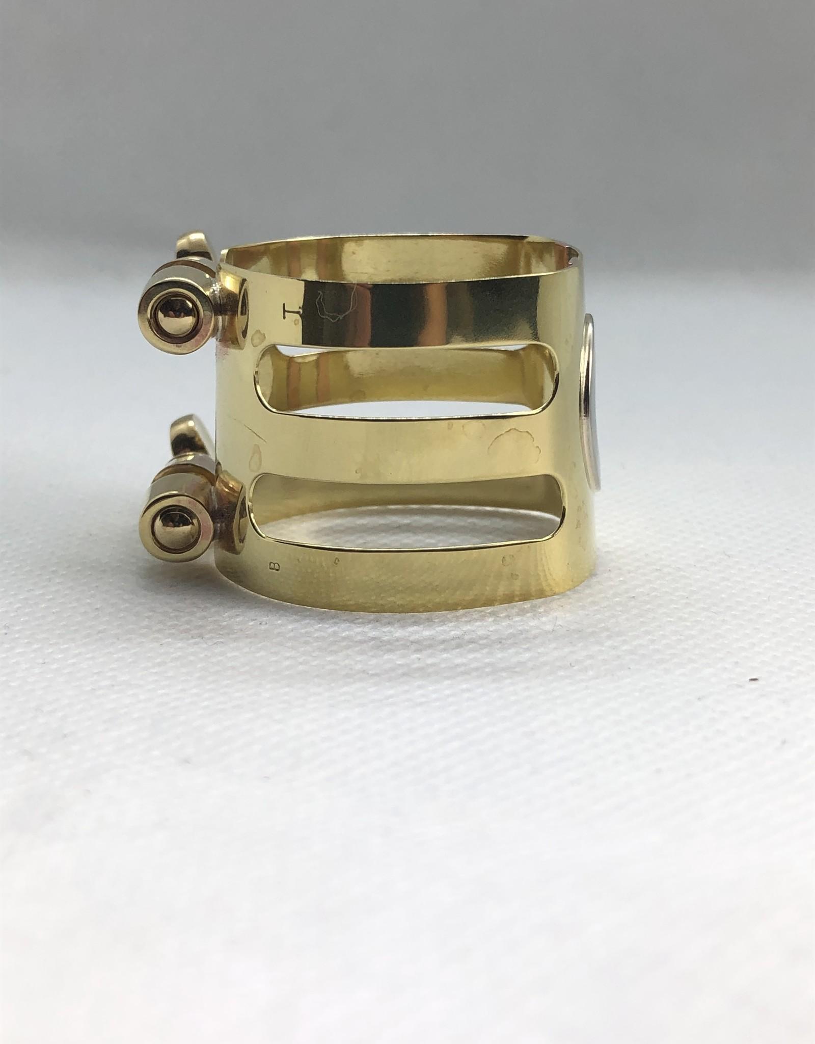 Ishimori Wood Stone Tenor Saxophone Metal Ligature for Selmer Rubber Mouthpiece Brass