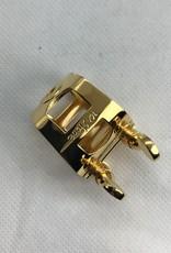 Ishimori Wood Stone Tenor Saxophone Metal Ligature for Ottolink Metal Mouthpiece Gold Plated