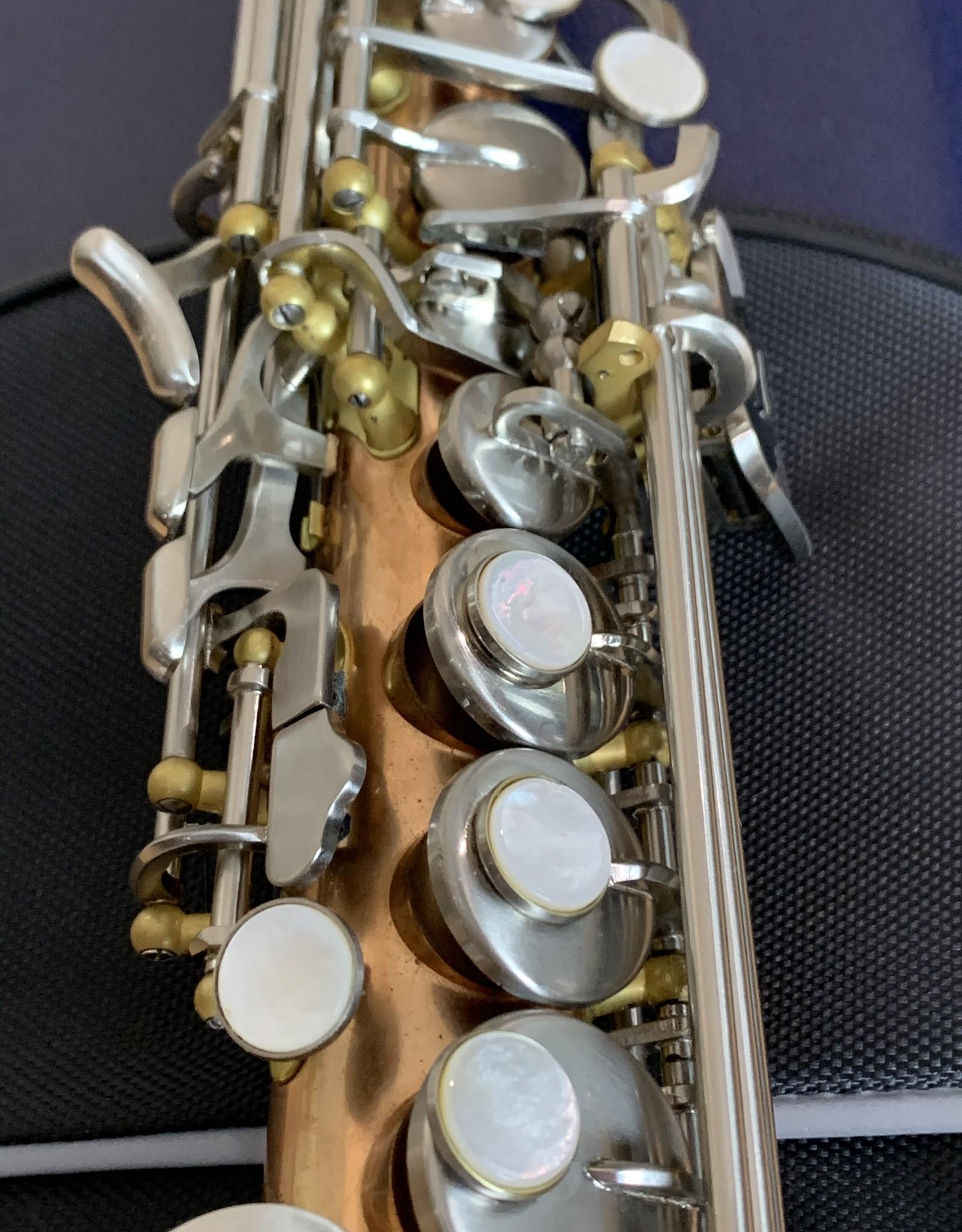 New York Signature New York Signature Series Unlacquered Copper Soprano Saxophone brushed nickel keys