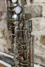 Conn Rare Silver Plated stretch  Conn Soprano Saxophone in Bb with Rare Original Mouthpiece!