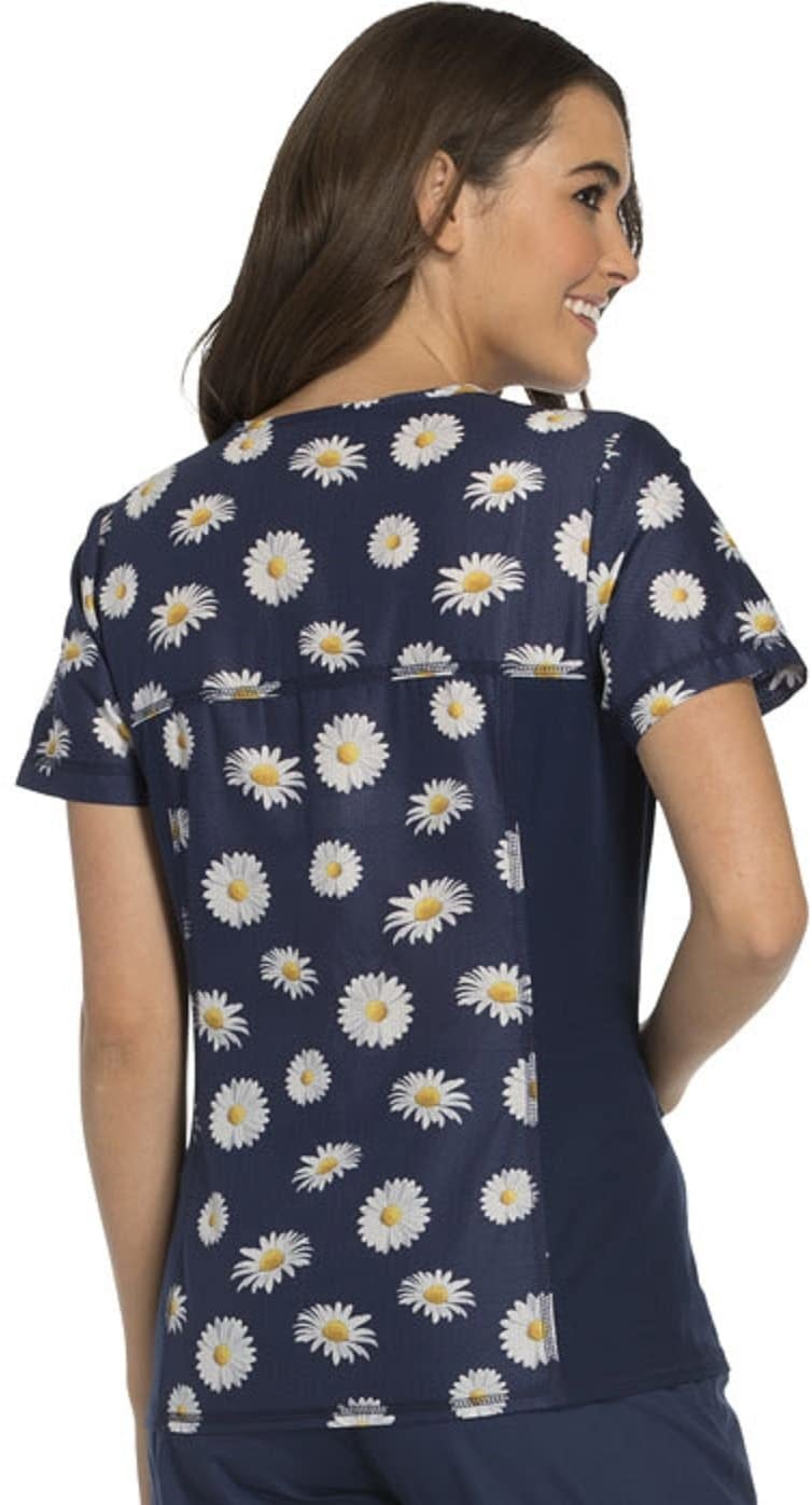 CHEROKEE Sunflower On Navy Blue Women's Top CK628